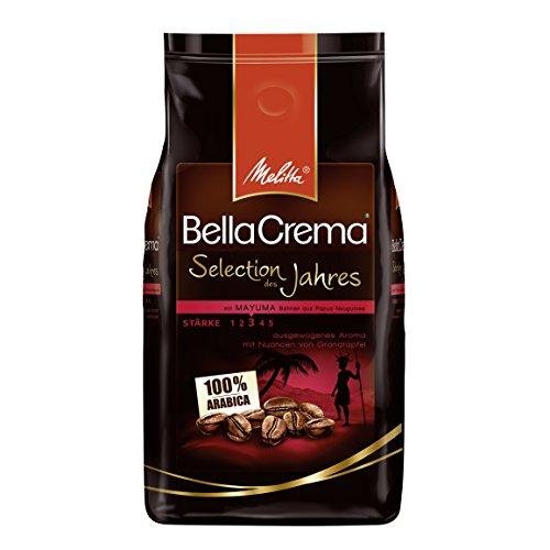 [Amazon Sparabo, -29%] 1kg Melitta Kaffeebohnen, Selection des Jahres 2017, fein-fruchtige Nuancen von Granatapfel, mittlerer Röstgrad, Stärke 3, BellaCrema, 100 % Arabica