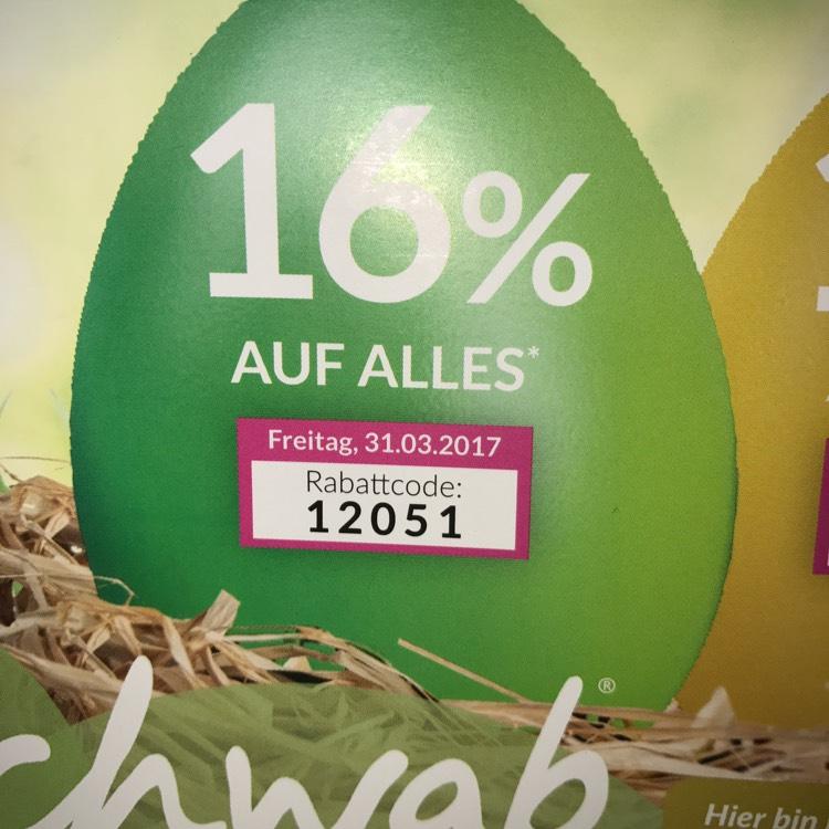Schwab Oster-Countdown 16% auf alles zb: Iphone 7 128