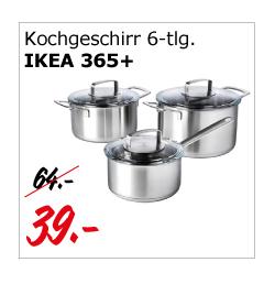 IKEA 365+ Kochgeschirr 6-tlg. - exklusives Angebot nur am 4.4. in Kaiserslautern
