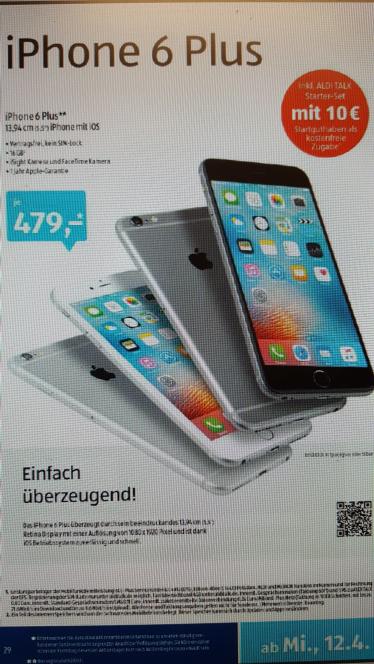 Iphone 6 Plus 16GB bei Aldi Süd