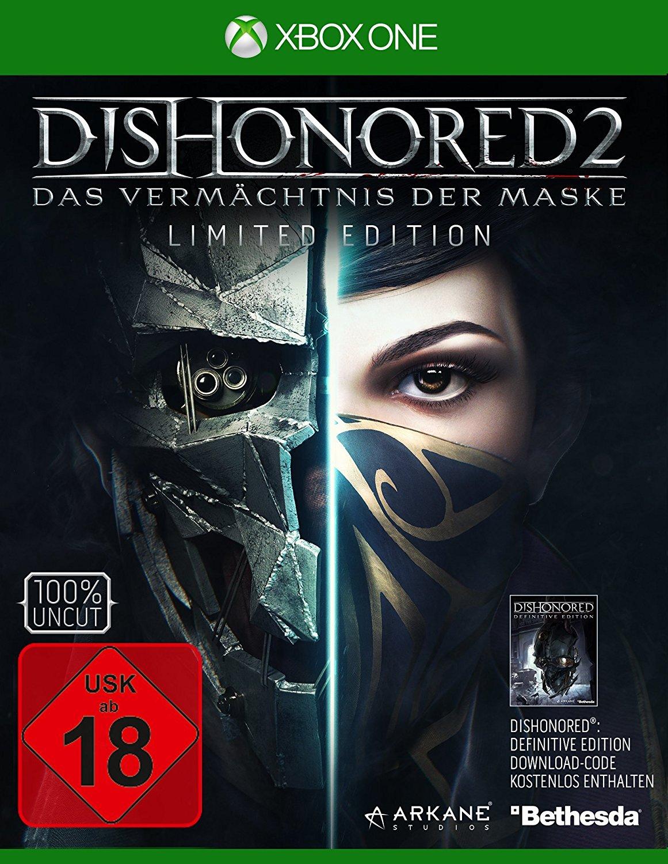 Dishonored 2: Das Vermächtnis der Maske - Limited Edition (inkl. Dishonored Definitive Edition) [Xbox One] für 31,84€ (Amazon)
