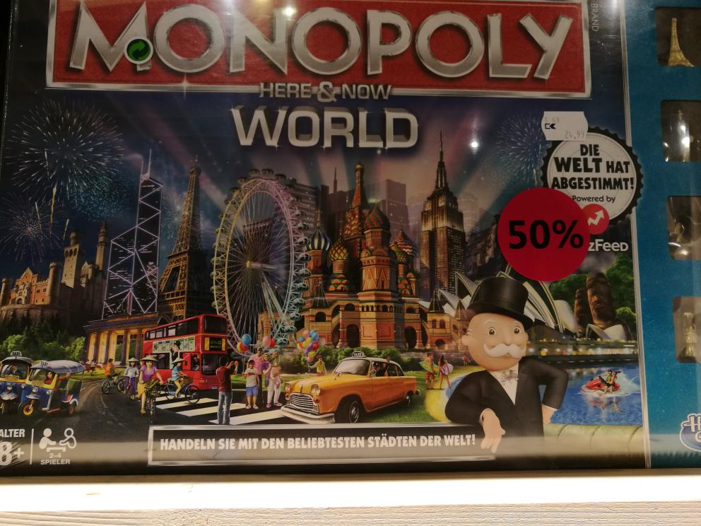 [Hamburg Karstadt Europa Passage] Monopoly Here & Now: World für 10,00 Euro