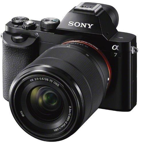 Sony Alpha 7 Vollformat-Systemkamera (24,3 Megapixel, 7,6 cm (3 Zoll) Display, BIONZ X, 2,3 Megapixel OLED Sucher, NFC, schwarz) inkl. SEL 28-70mm für 989€ statt 1.161€ [amazon.es]