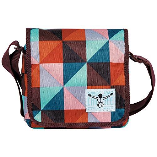 Chiemsee Umhängetasche Easy Shoulderbag Plus, Magic Triangle Red, 21 x 8 x 20 cm, 3 Liter, 5021040