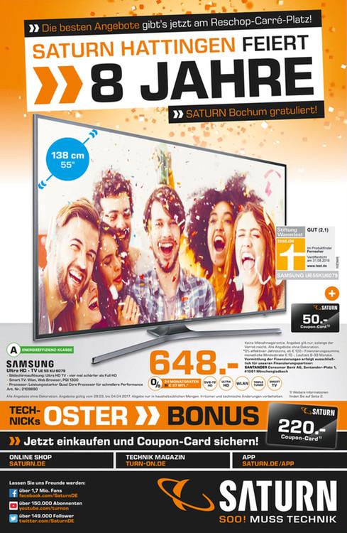 [Lokal Saturn Bochum und Hattingen] Wiko Lenny 3 für 77€, Samsung S3 Frontier für 269€, Sony 75XD8505 für 2688€ (Sammeldeal)