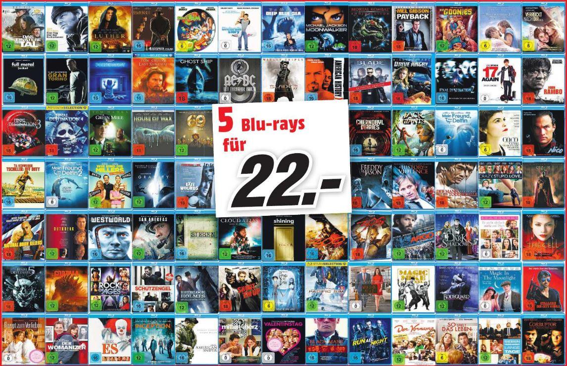 [Mediamarkt Dortmund Hörde] 5 Blurays für 22 Euro