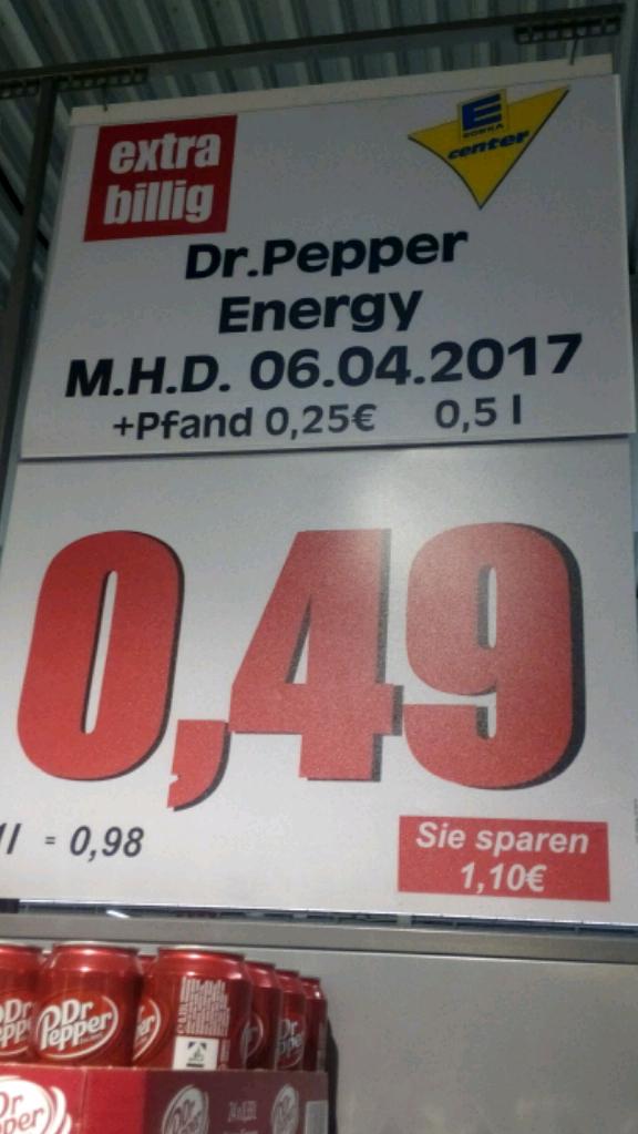[EDEKA Minden/Hannover] Lokal Minden Dr. Pepper 0,5l für 0.49€ + 0.25€ Pfand