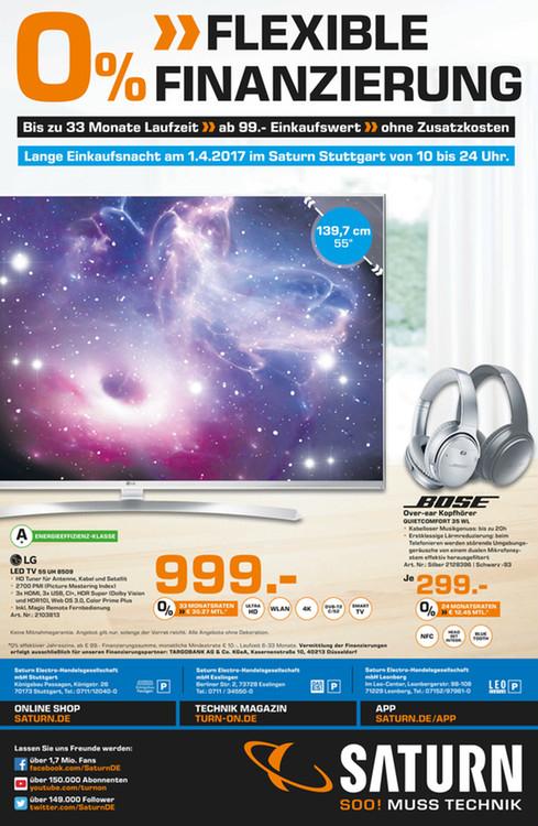 LG 55UH 8509 für 999,- LOKAL Saturn Stuttgart