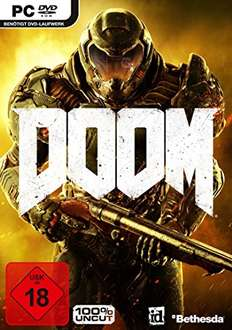 DOOM, PC, uncut, retail version für 9,99 EUR auf amazon