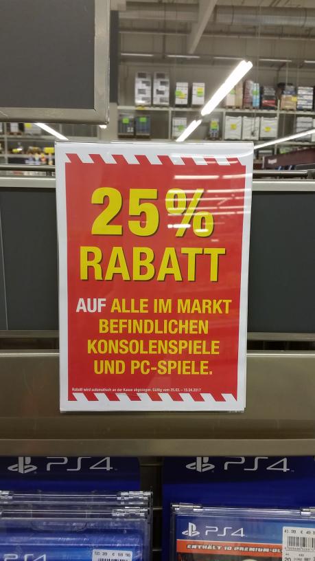 Metro (Deutschlandweit) Auf alle PC & Konsolenspiele PS3/PS4/X1/WII etc. 25% Rabatt
