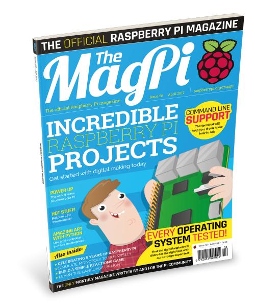 [The MagPi] Englisches Raspberry Pi Magazin - Ausgabe (56) April 2017 gratis