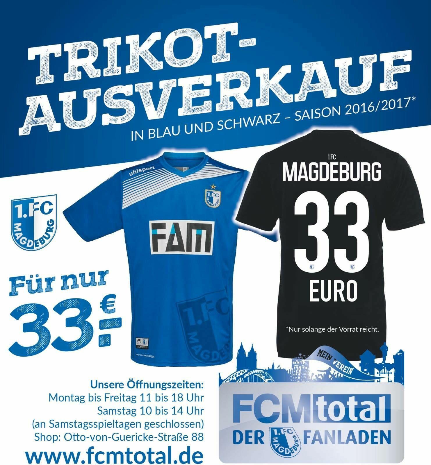 1. FC Magdeburg Trikots, aktuelle Saison