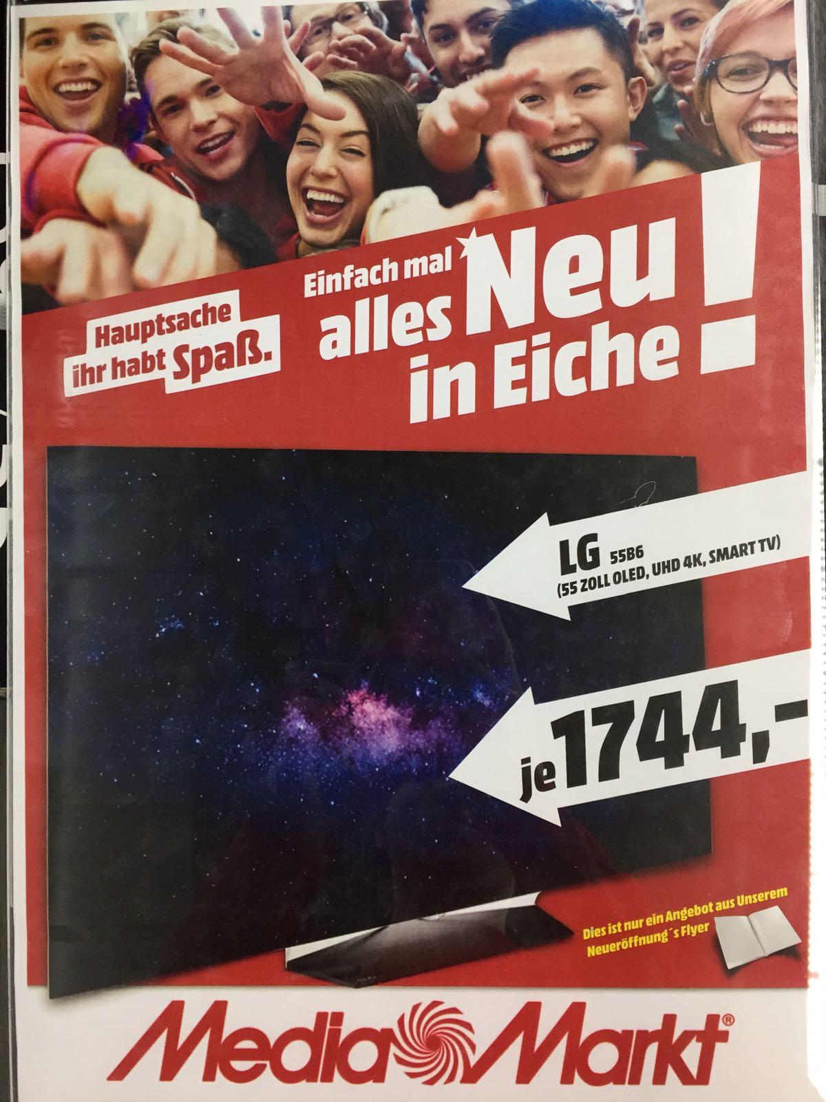 LG OLED 55 B 6 für 1744,- im Media Markt Eiche - Neueröffnung - bis 02.04.