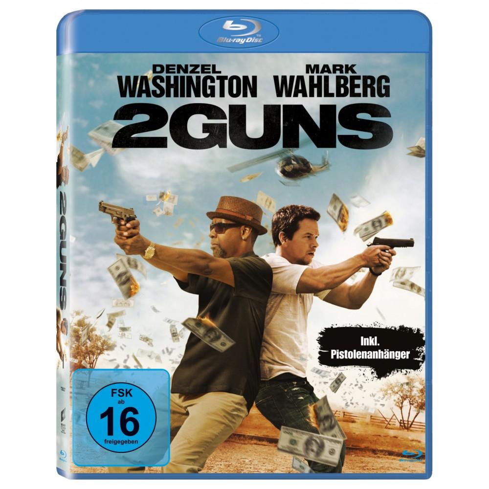 2 Guns (inkl. Kette mit Pistolenanhänger) (Blu-ray + UV Copy) für 5€ (bzw. 4,50€) (Müller)
