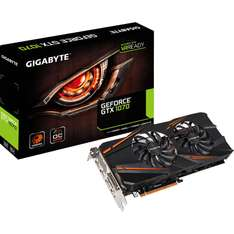 Mindfactory Angebot: 8GB Nvidia Gigabyte GeForce GTX 1070 Windforce OC Aktiv PCIe 3.0 x16 (Retail) - Plus ein Spiel: For Honor oder Ghost Recon