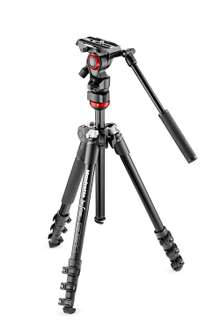 Manfrotto MVKBFR-LIVE Bee Free Live Stativ-Kit mit Fluid-Videokopf @amazon.de