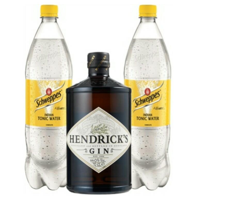 allyouneedfresh 2 x hendrick's gin + 4 Schweppes tonic Walter für 49,98 €
