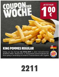 Burger King Pommes Regular