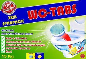 15 kg WC Tabs (ca.600 St. x ca.25g) mit 5-fach Kraft-Formel WC Reiniger