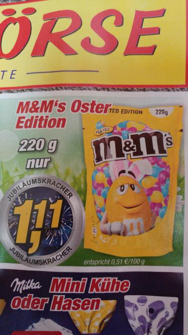 M&M Peanut 220g lokal Posten Börse