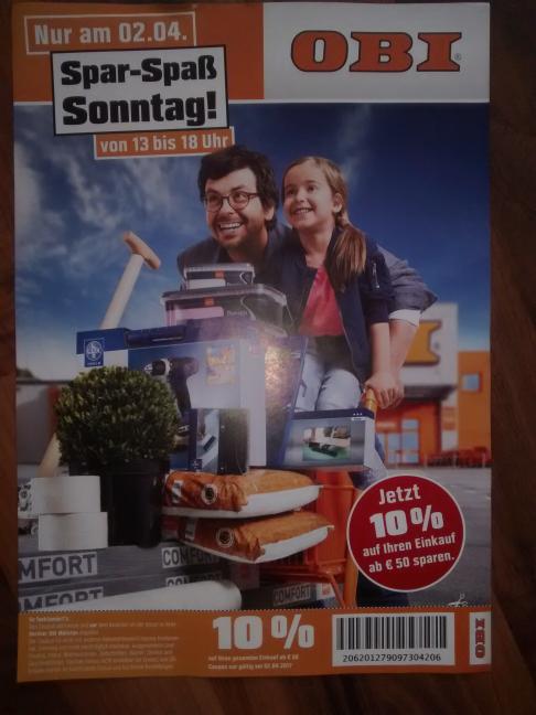 (Berlin) Obi 10% ab 50€ nur am 2.4.17