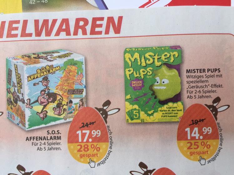 [Müller] Spiele, u.a. SOS Affenalarm + Mister Pups + Lotti Karotti