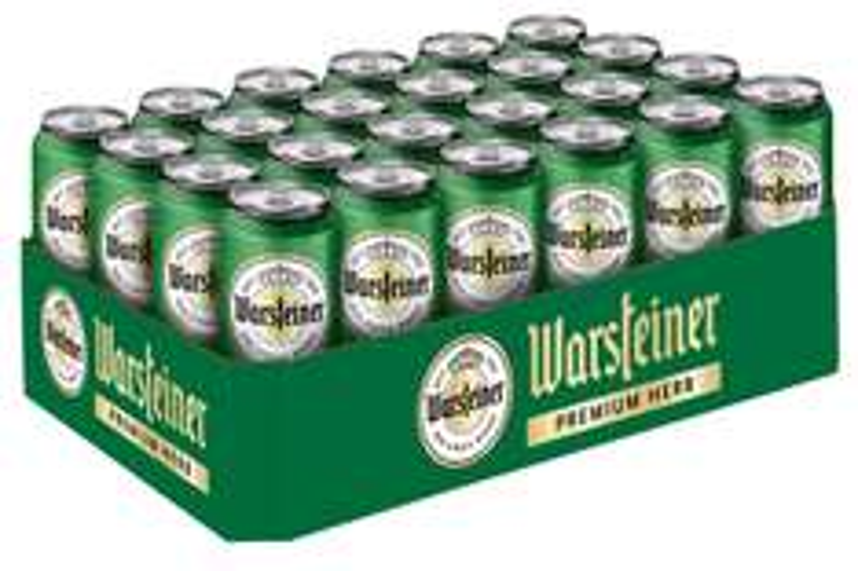 (Amazon Prime) Warsteiner Herb Pils / 24 x 0,5 Liter Dosenbier / Kraftvolles Bier nach deutschem Reinheitsgebot für 14,99€+ 6,00€ Pfand