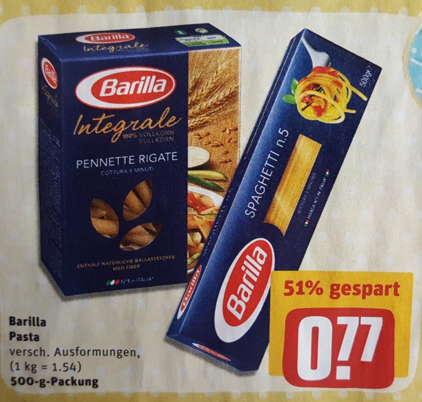 REWE: Barilla (500gr.) - auch Integrale für 0,77€.