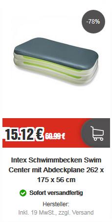 top12 - Intex Schwimmbecken Swim Center Euro 15,12 + massig 12-Cent-Artikel