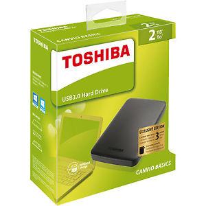 TOSHIBA 2 TB HDTB320MK3CA Canvio Basics, Externe Festplatte, 2.5 Zoll für 77,00€
