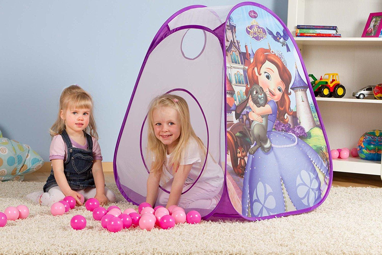 [Amazon Prime] John Pop Up Ball Haus -Sofia die Erste- Kinder Zelt  75x75x90cm inkl. 30 Bälle für 7,53€