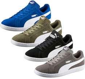 Puma Smash Herren Sneaker aus Leder in 4 Farben und in den Größen von 41 - 48,5
