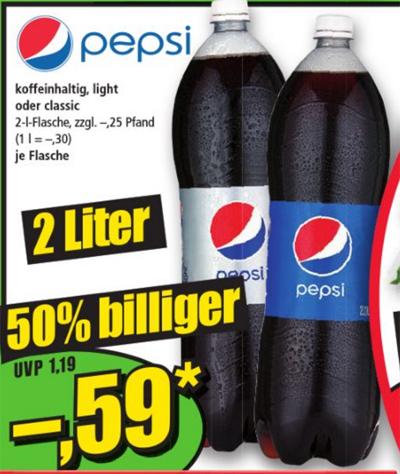 [Norma ab 12.04.] Pepsi 2 Liter für 0,59€