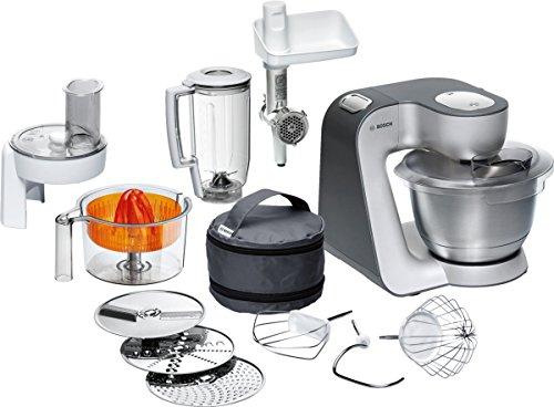 [amazon] Bosch MUM56340 Küchenmaschine Styline MUM5 (900 Watt, Edelstahl-Rührschüssel, Durchlaufschnitzler, Rühr-Schlagbesen und weiteres Zubehör) silber