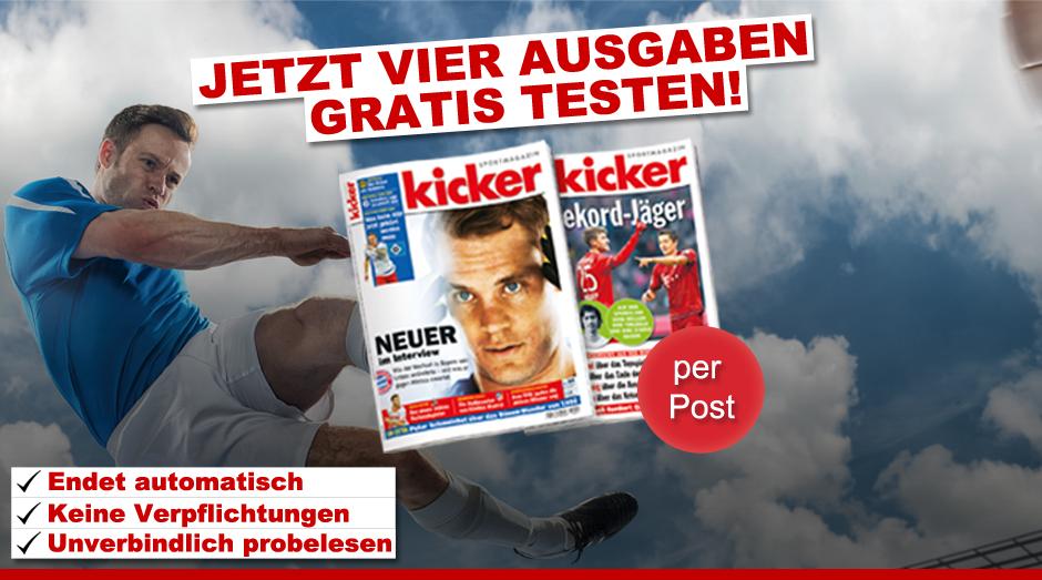 4 Print Ausgaben des Kicker Gratis