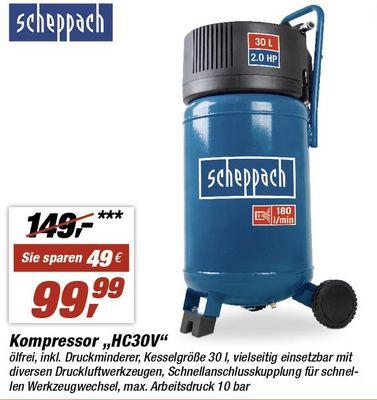 "[Toom Lokal] Scheppach Kompressor ""HC30V"" - mit Kartenaktion"