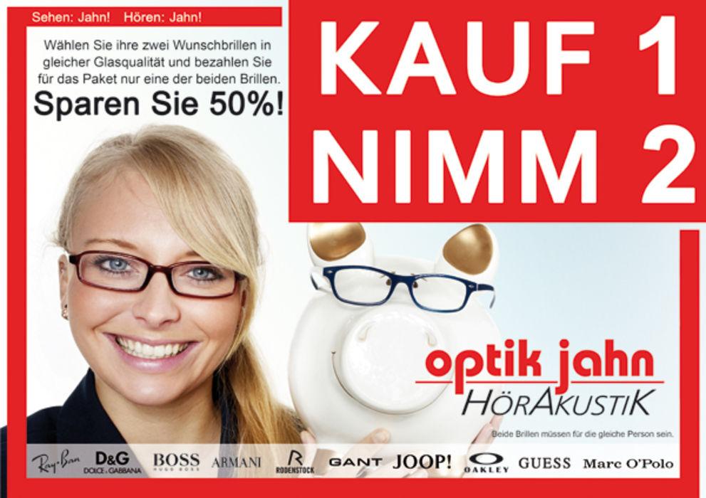 [Lokal Rheinland] 2 Brillen zum Preis von Einer bei Optik Jahn