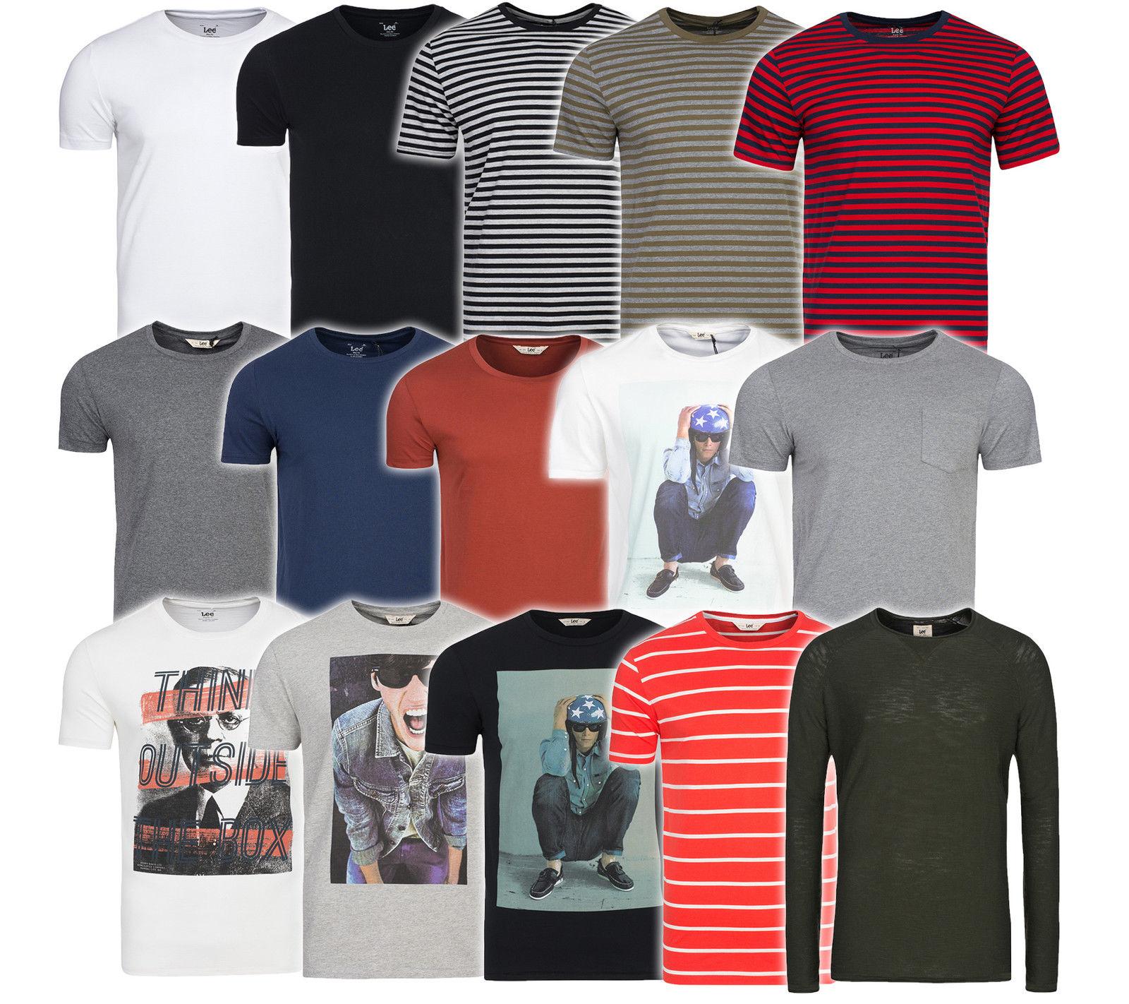 NEU Lee Herren T-Shirt Freizeit-Shirt Sweater Stripe, Plain Pocket, Crew Knit @Ebay - Outlet46