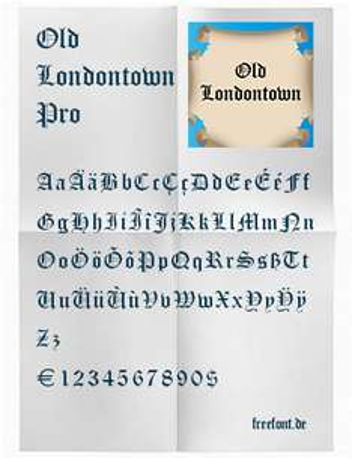 "Gratis ""Old Londontown Pro"" Schrift"
