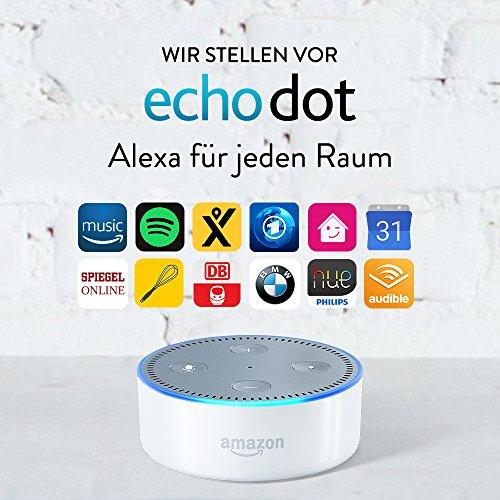 [Amazon.de-Prime]3x Amazon Echo Dot (2. Generation), Weiß oder  in Schwarz   ca. 51.65€ pro Dot + mehr Rabatt möglich