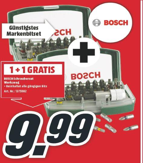 [Nur für Österreicher-Lokal Mediamarkt Salzburg]  2 x Bosch DIY 32tlg. Schrauberbit-Set mit Farbcodierung für 9,99€