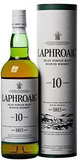 Laphroaig Islay Single Malt Scotch Whisky 10 Jahre (1 x 0.7 l) @amazon