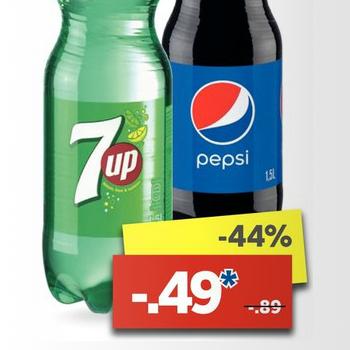 [Lidl] Pepsi & 7UP versch. Sorten 1,5l für 0,49€ *auch ab 18.04.