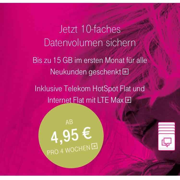Telekom Magenta Mobil 10GB 10-fach Datenvolumen für Neukunden auch im EU Ausland nutzbar