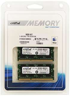 Crucial 16GB RAM Kit PRICEDROP! RAM Upgrade für iMac, Macbook