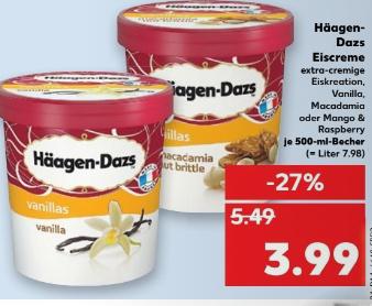 Häagen Dazs für 3,99€ bei Kaufland