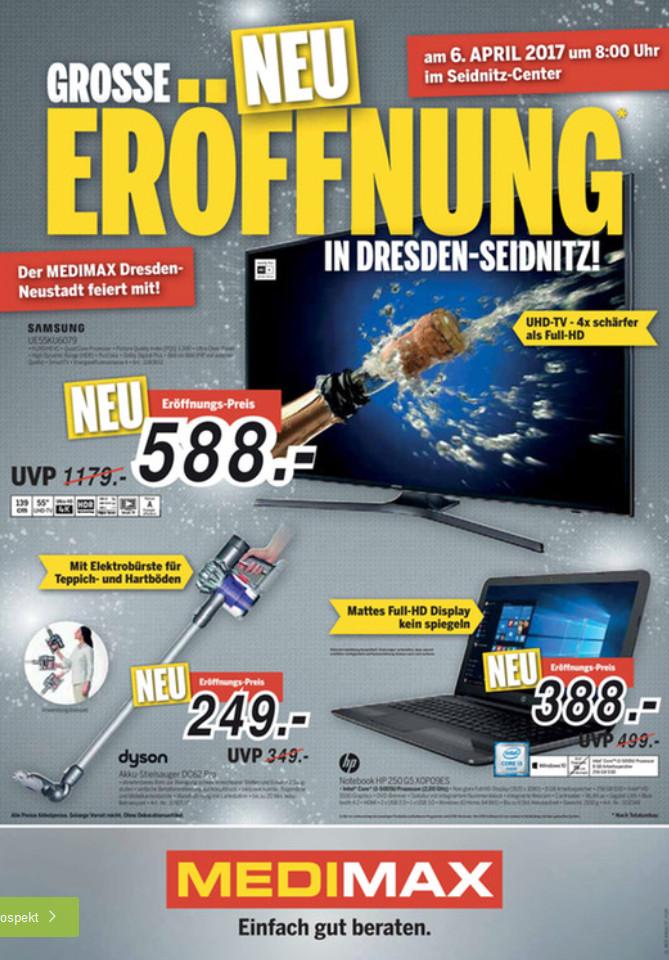 """[offline] Neueröffungsangebot MEDIMAX Dresden Sammeldeal z.B. Apple MacBook Pro 13"""" – 1385,00€; Bose Soundlink Mini II – 139,00€"""