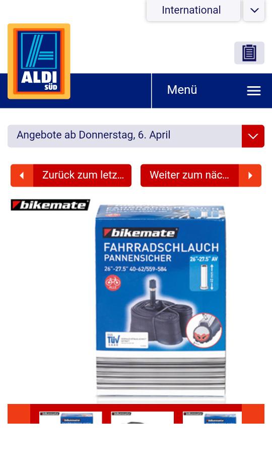 ALDI SÜD - bikemate® Fahrradschlauch 2.99€
