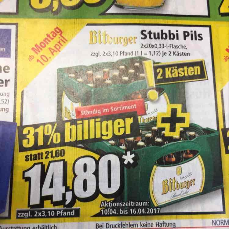 [Norma] Bitburger Stubbi Pils