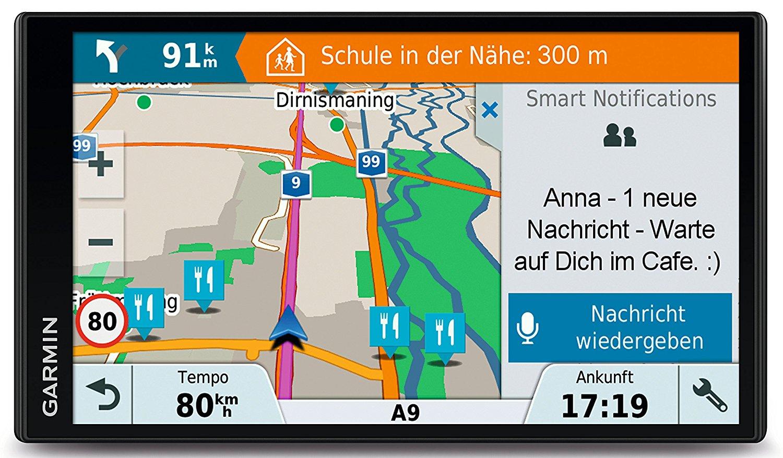 [Amazon] Garmin DriveSmart 61 LMT-D CE PKW Navigationsgerät - 6,95 Zoll (15,4 cm), lebenslang Kartenupdates für Zentraleuropa, Verkehrsinfos über DAB+